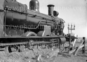 Steam locomotive 3321 derailed at Woodville Junction, Newcastle, NSW, May 11, 1936. (4)