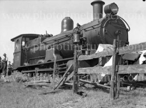 Steam locomotive 3321 derailed at Woodville Junction, Newcastle, NSW, May 11, 1936. (8)