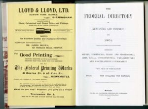 Federal Directory of Newcastle and District [NSW] facsimile edition (secondhand book)