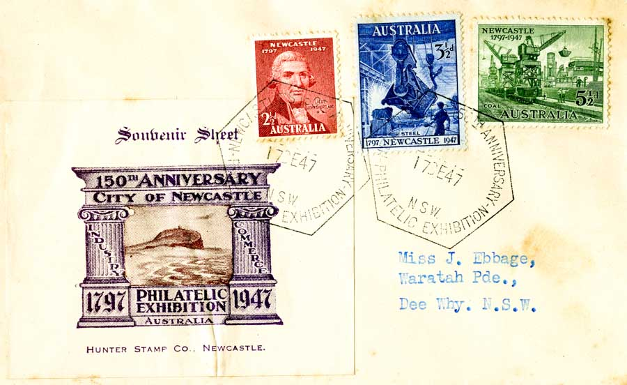 Mistaken identity on Newcastle's anniversary stamp