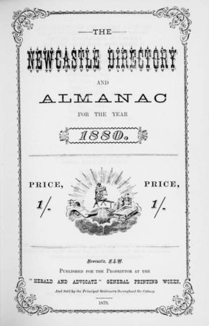 The Newcastle Directory and Almanac for the Year 1880 – facsimile edition (secondhand book)