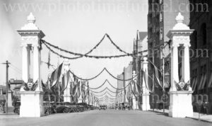 Decorations in Sydney for the visit of Edward, Prince of Wales, 1920. (12)