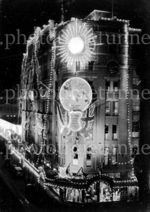 Illuminated decorations in Sydney for the visit of Edward, Prince of Wales, 1920. (9)