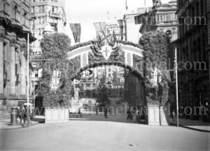 Decorations in Sydney for the visit of Edward, Prince of Wales, 1920. (2)