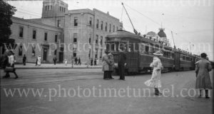 Electric trams at Adelaide, South Australia, c1936. (2)