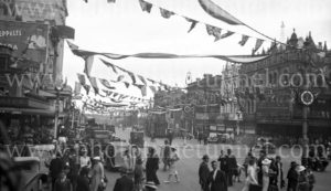 Street scene during South Australian centenary celebrations, Adelaide, 1936. (1)