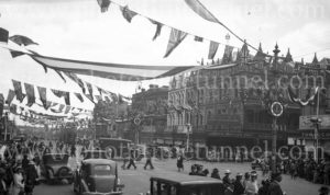Street scene during South Australian centenary celebrations, Adelaide, 1936. (2)