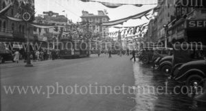Street scene during South Australian centenary celebrations, Adelaide, 1936. (4)