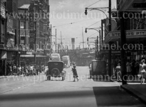 Hunter Street, Newcastle, looking west, February 5, 1947.