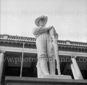 Gardner Memorial Great War statue, Newcastle, NSW, December 18, 1968.