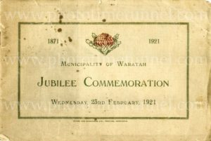 Municipality of Waratah Jubilee Commemoration booklet 1871 – 1921. PDF download