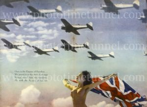 """Empire of Freedom"": Australian World War 2 propaganda poster from Man magazine"
