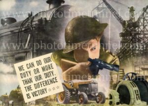 """Do your duty"": Australian World War 2 propaganda poster from Man magazine"