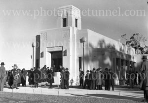 Opening of crematorium at Beresfield (Newcastle, NSW), July 18, 1936. (1)