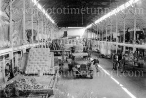 Blakiston transport truck in a warehouse, Geelong, Victoria, circa 1950. (2)
