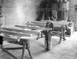 Building a truck chassis, Victoria, circa 1950