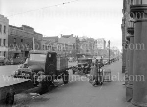 Hoffman and Co transport truck in Melbourne, Victoria, circa 1950.