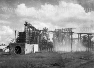 Ayrfield Colliery at Rothbury Estate in the Hunter Valley on fire, March 8, 1949 (2)