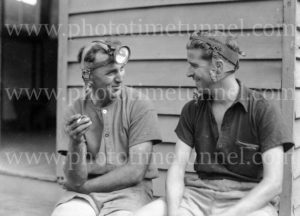 Miners at damaged Ayrfield Colliery at Rothbury Estate in the Hunter Valley, March 8, 1949. (3)