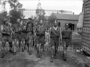 Miners at damaged Ayrfield Colliery at Rothbury Estate in the Hunter Valley, March 8, 1949. (4)