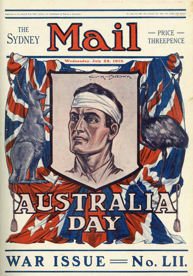 The first Australia Day, July 30, 1915