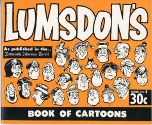 Lumsdon's book of cartoons from The Newcastle Morning Herald, book #4 (secondhand book)
