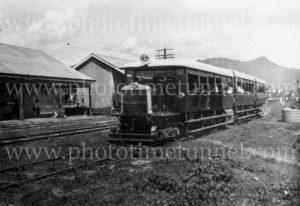 Rail motor at Edmonton, Cairns, Queensland, 27-12-1927.