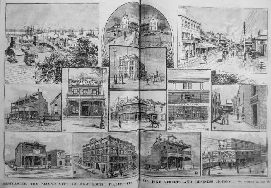 Some Newcastle businesses in 1891