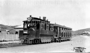 Steam tram on the Glebe line, Newcastle NSW, circa 1920