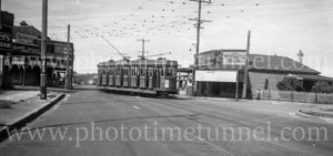 Tram on Glebe Road, The Junction, Newcastle NSW, April 8, 1948.