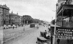 King William Street, Adelaide, South Australia, circa 1930s.