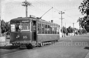 Tram at Geelong, Victoria, March 1940.