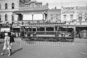 Tram at Bendigo, Victoria, Easter 1941.