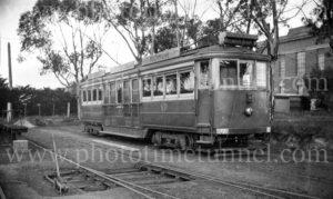 Tram at Elwood, Victoria, 16-8-1947.