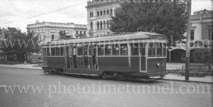 Tram in Sturt Street Ballarat, Victoria, March 1947.