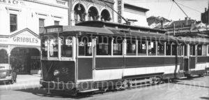 Tram in Sturt Street Ballarat, Victoria, 2-5-1947.