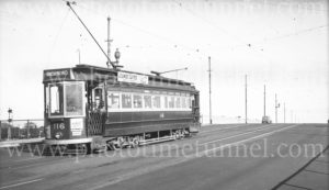 Tram at Mile End, Adelaide, South Australia, 3-6-1947.