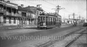 Tram in North Terrace, Adelaide, South Australia, 10-6-1947.