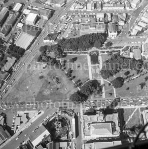 Aerial view of Civic Precinct, Newcastle, NSW, 1974. (3)