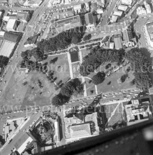Aerial view of Civic Precinct, Newcastle, NSW, 1974. (2)