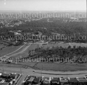Aerial view of University of Newcastle, NSW, 1974.