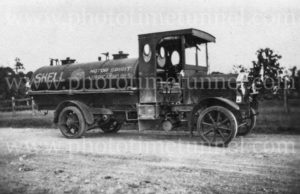 Vintage Shell petrol tanker, NSW, Australia, circa 1930s.