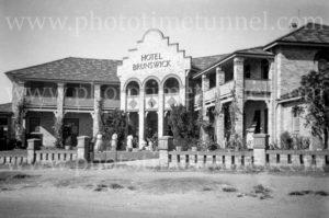 Brunswick Hotel, Rockhampton, Queensland, circa 1940s.