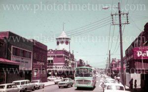 View of Beaumont Street, Hamilton, Newcastle, NSW, 1960s.