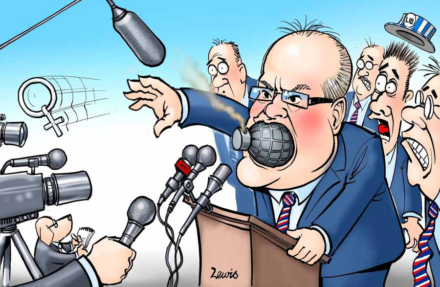 Scomo has lost his marbles