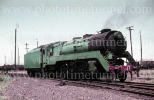 Steam locomotive 3813, circa 1960s.