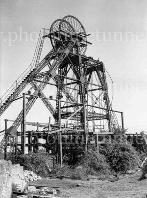 Headframe of Burwood Colliery, Whitebridge, NSW, circa 1940s.