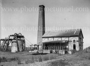 Buildings at Burwood Colliery, Whitebridge, NSW, circa 1940s.
