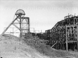 Structures at Burwood Colliery, Whitebridge, NSW, circa 1940s.
