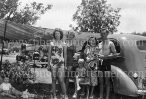 Picnic group at Cronulla, NSW, Christmas 1948.